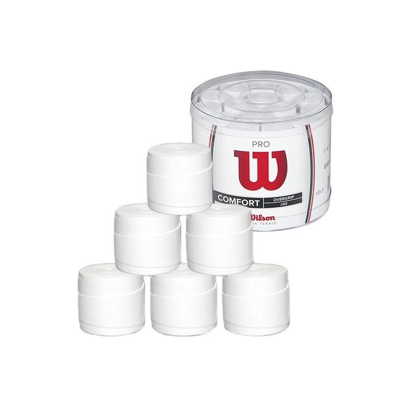 Jar 60 Overgrip Wilson White Pro