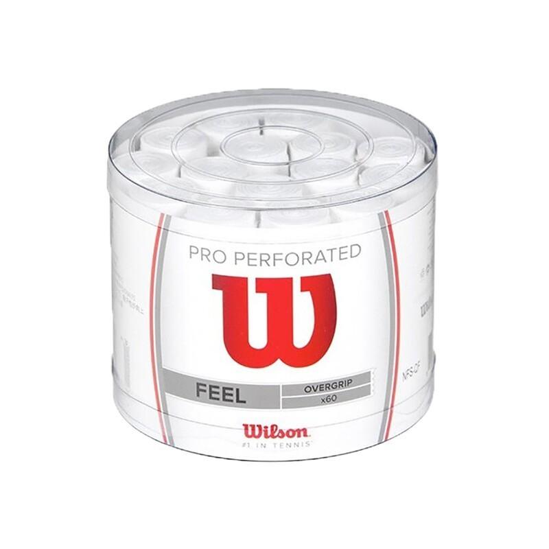 Tarro 60 Overgrips Wilson Blanco Pro Perforados