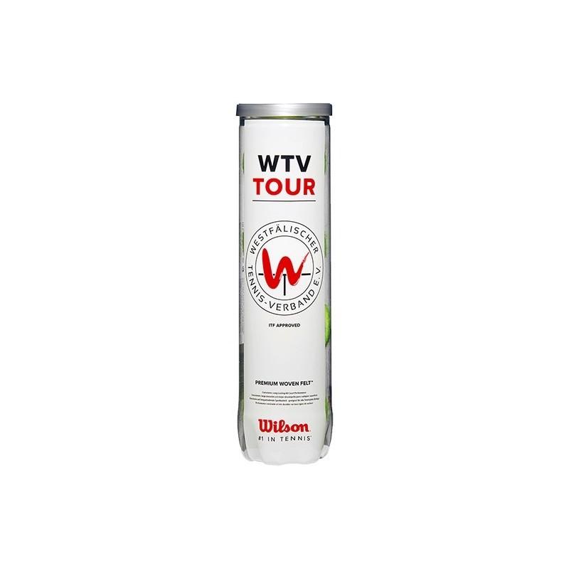 Bote 4 Pelotas De Tenis Wilson Wtv Tour