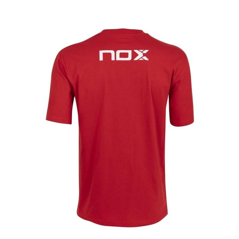Camiseta BASIC NOX ROJA LETRAS BLANCAS