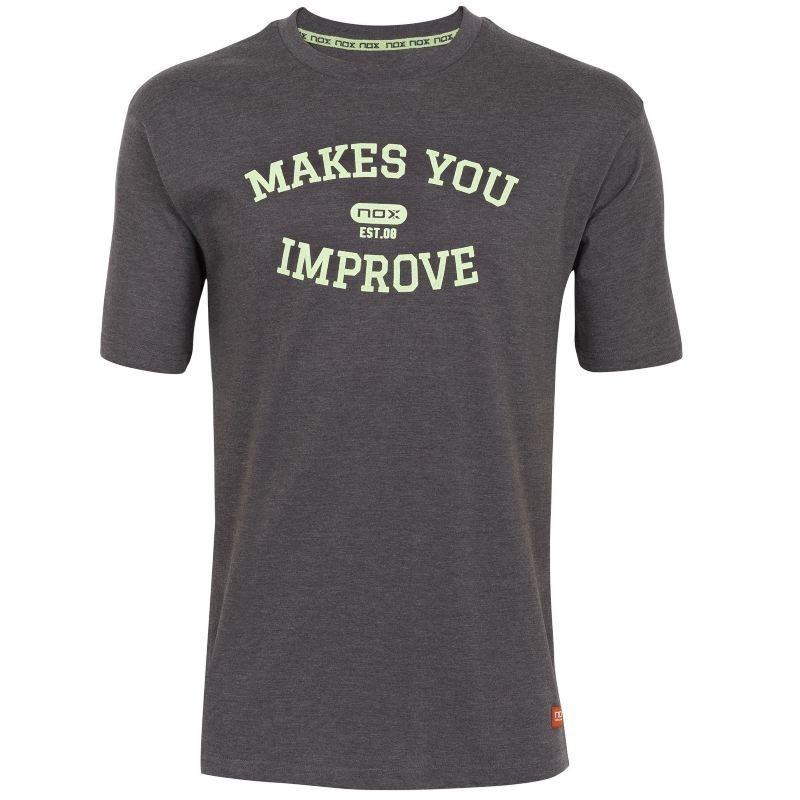 BASIC NOX GRAY T-SHIRT LIME LETTERS