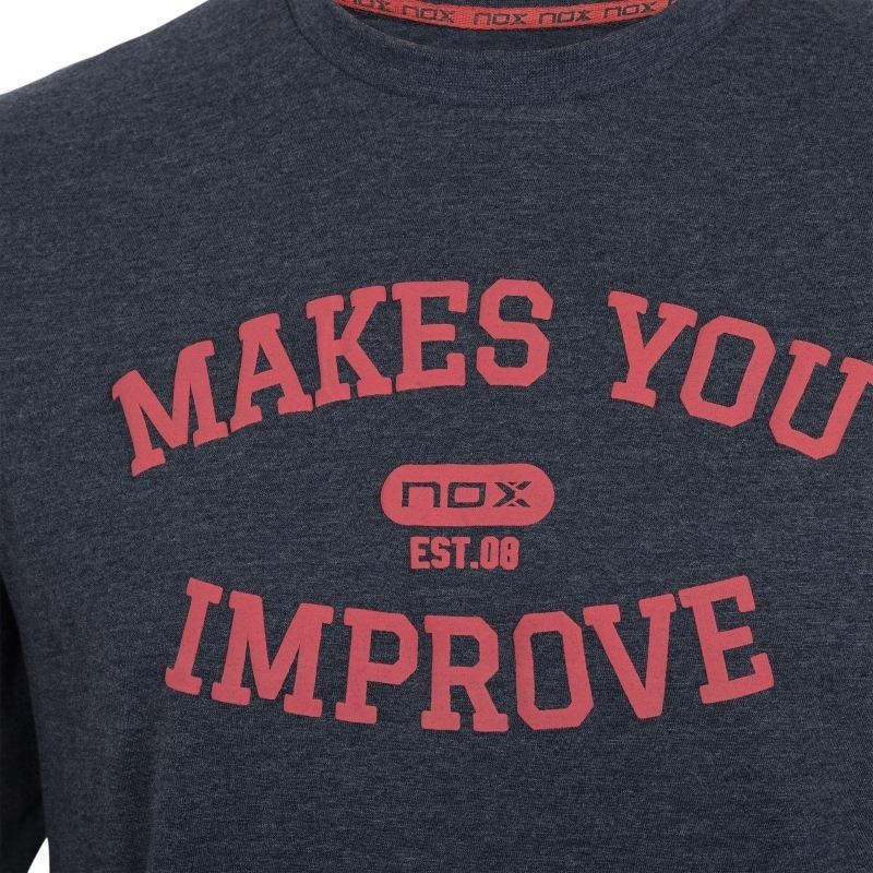 Camiseta BASIC NOX AZUL MARINO LETRAS ROJO CORA