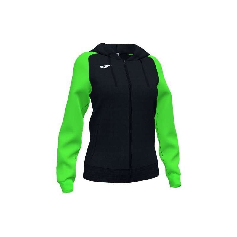 Academy Iv Zip-Up Hoodie Black Fluor Green