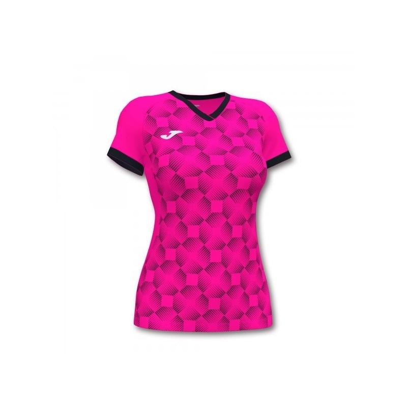 Supernova Iii Short Sleeve T-Shirt Fluor Pink Black