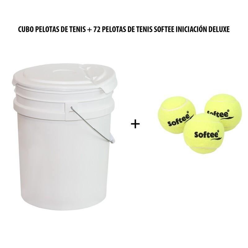 Tennis Balls Bucket + 72 Deluxe Initiation Softee Tennis Balls