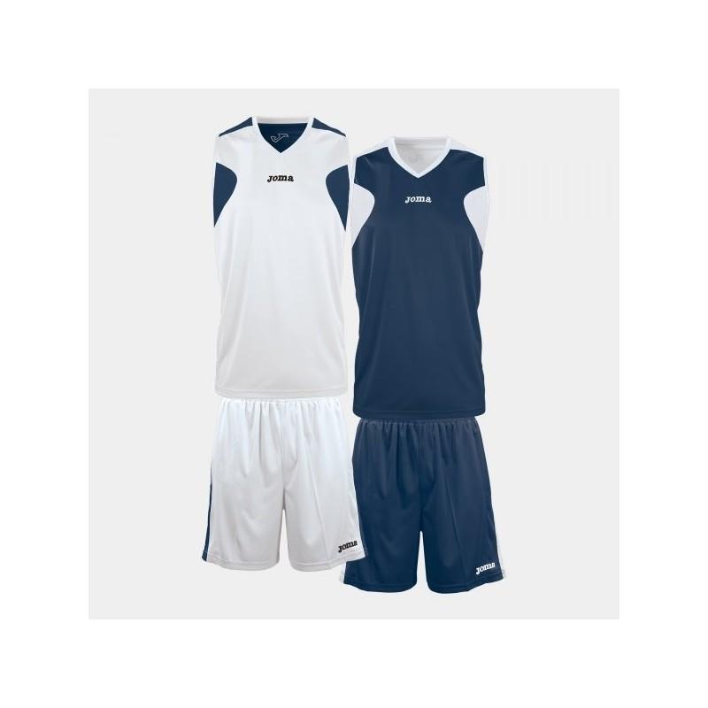 Set Basket Reversibile Blco-Marin Jersey + Short