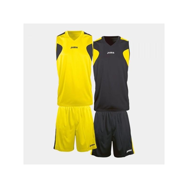 Set Basket Reversible Ama-Ngr Jersey + Short