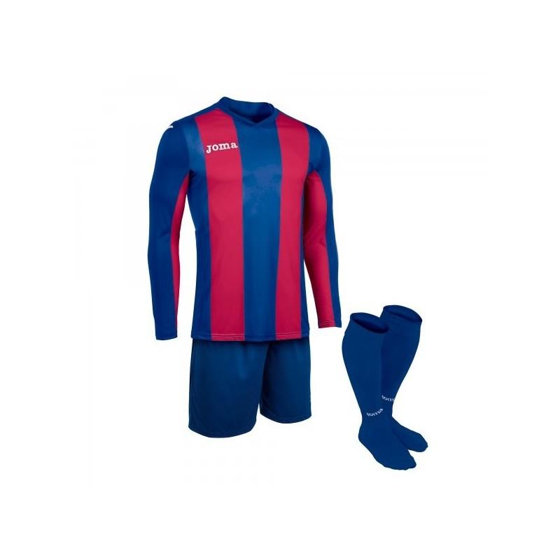 Set Pisa Blue-Burgundy T-Shirt L / s + Short + Socks