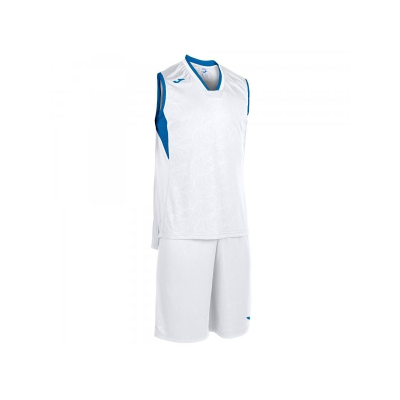 Set Campus Basket Bianco-Royal Maniche
