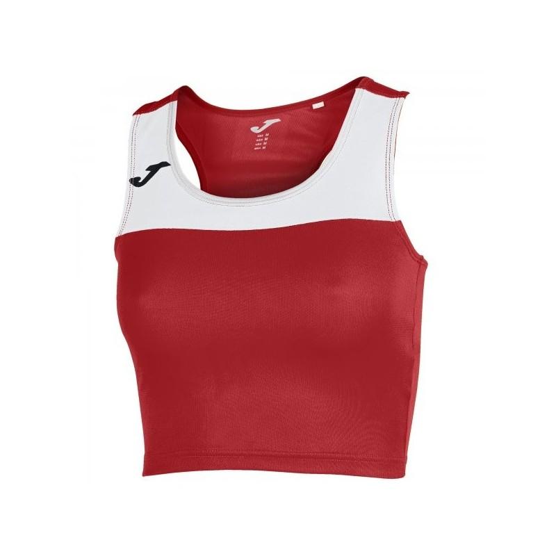 T-Shirt Race Donna Rosso-Bianco Smanicato