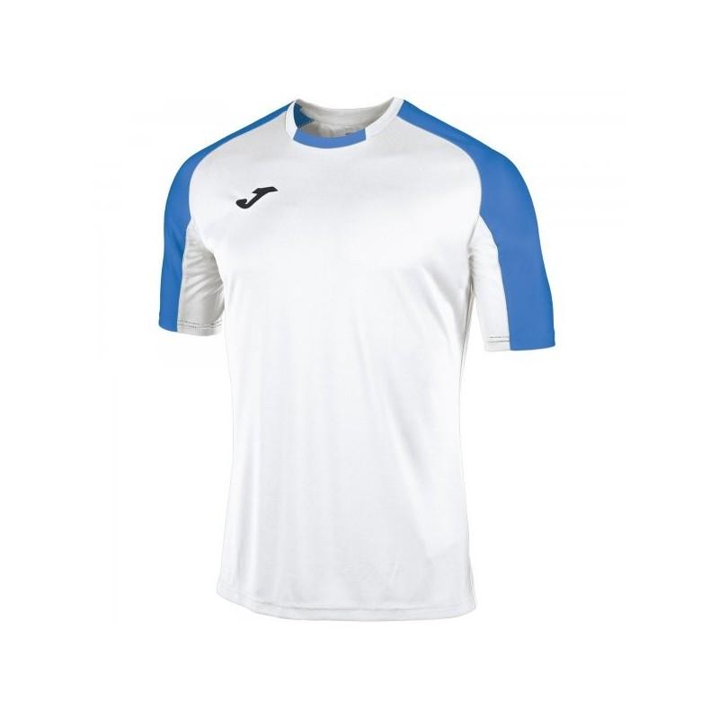 Camiseta Essential Blanco-Royal M/c