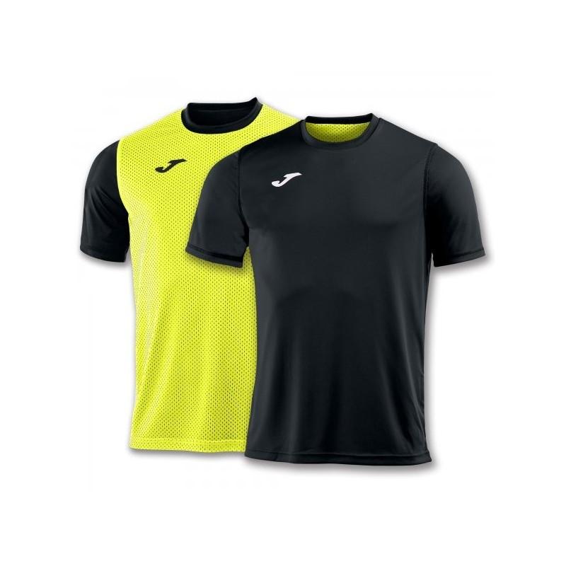 T-Shirt Combi Reversible Black-Yellow S/s