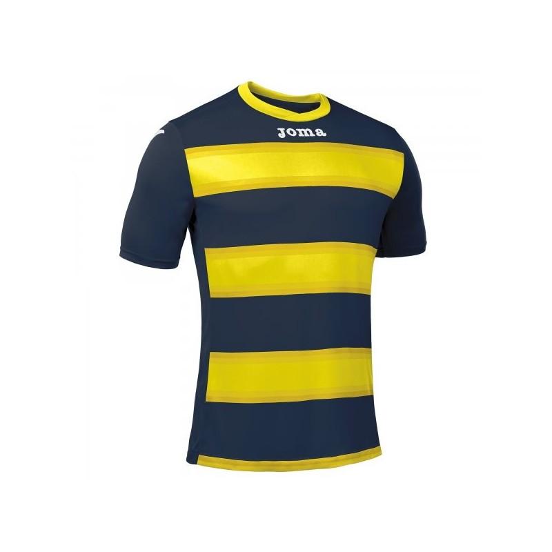 Europa III T-Shirt Dark Navy-Yellow S / S