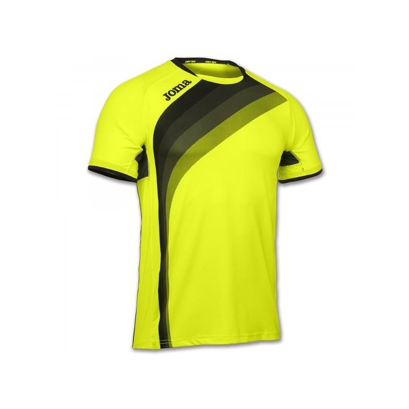Maglietta Elite V Giallo Fluorescente S/S