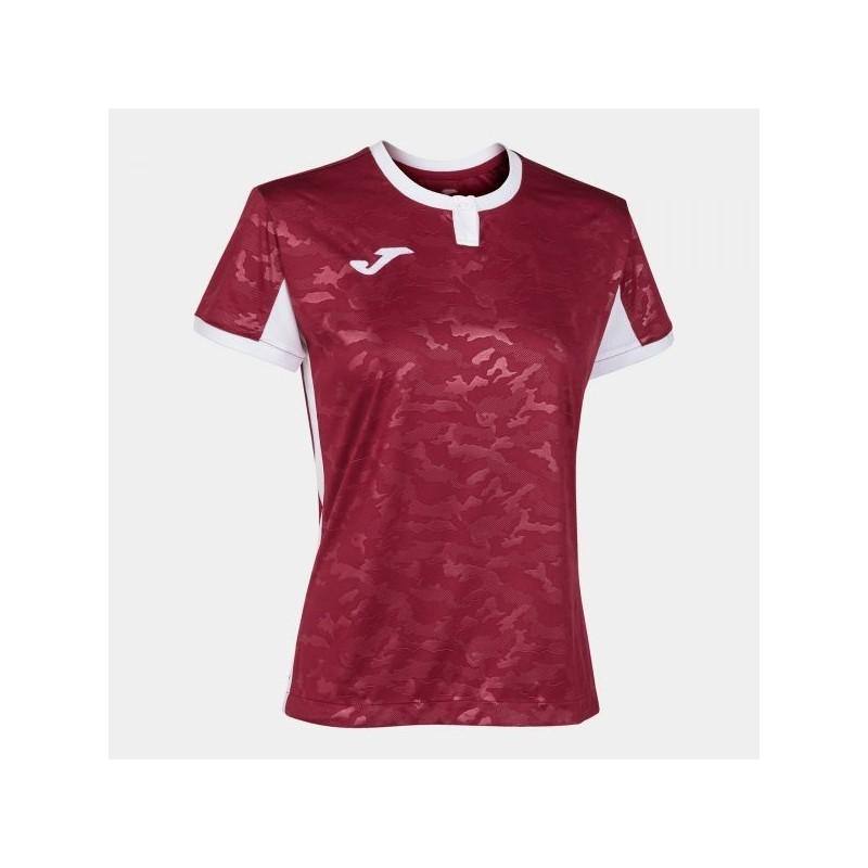 T-Shirt Toletum Ii Borgogna-Bianco S/s