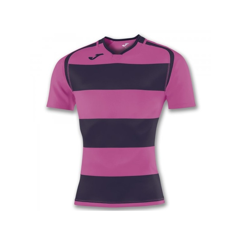 T-Shirt Prorugby Ii Viola Scuro-Rosa S/s