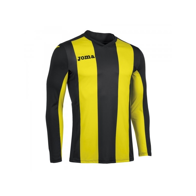 T-Shirt Pisa  Black-Yellow L/s
